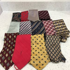 Defective Tie Lot YSL Balenciaga Fendi Armani Zegn